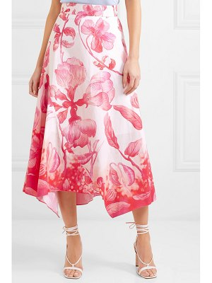 Peter Pilotto floral-print cotton-poplin skirt