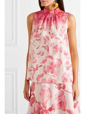 Peter Pilotto floral-print cotton-poplin top