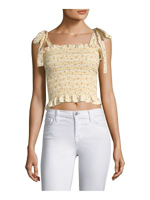 Petersyn diedra tie-shoulder top