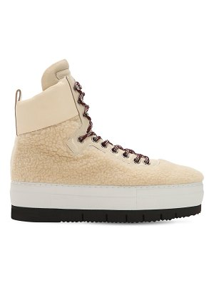 Philippe Model Adele faux shearling high top sneakers