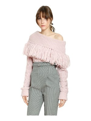 Philosophy di Lorenzo Serafini Destroyed alpaca blend knit sweater