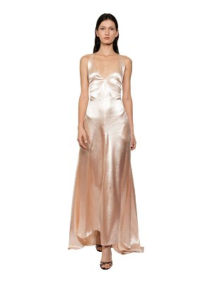 Philosophy di Lorenzo Serafini Long satin dress