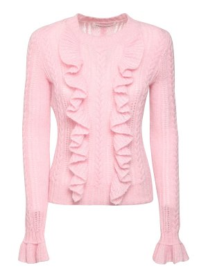 Philosophy di Lorenzo Serafini Ruffled mohair blend knit sweater