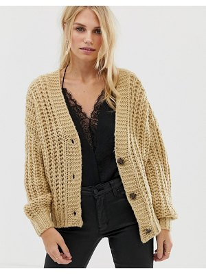 Pieces chunky hand knit cardigan