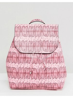 Pieces Colored Snake Print Backpack