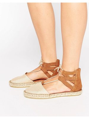 Pieces Linnea Metallic Suede Two Part Espadrilles