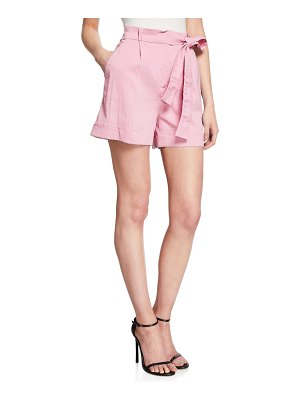 PINKO Irma Belted High-Waist Shorts