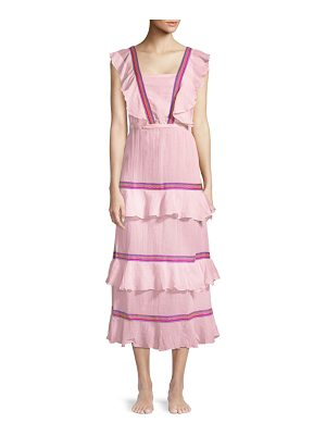 Pitusa eve tiered ruffle dress