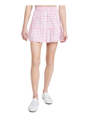 Playa Lucila gingham skirt