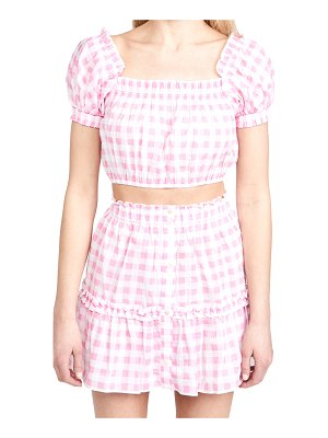 Playa Lucila gingham top