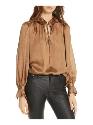 Polo Ralph Lauren crinkle tie neck blouse