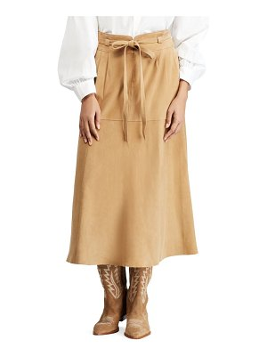Polo Ralph Lauren kinsley suede midi skirt