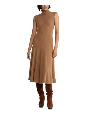 Polo Ralph Lauren turtleneck fit & flare cashmere midi dress