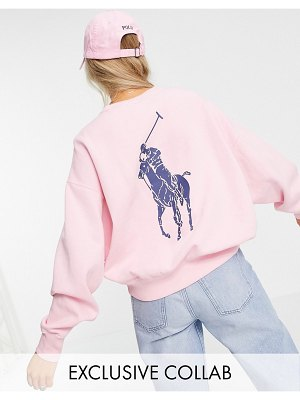 Polo Ralph Lauren x exclusive collab back logo sweatshirt in pink