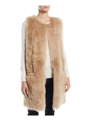 Pologeorgis Reversible Leather & Lamb Fur Vest