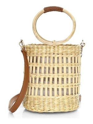 Poolside the better open weave bucket bag