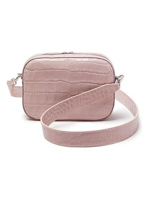 POP & SUKI Croc Embossed Bigger Leather Camera Bag