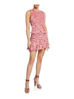 POUPETTE ST BARTH Soledad Open-Back Floral Mini Dress