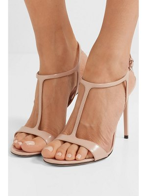 Prada 105 glossed-leather sandals