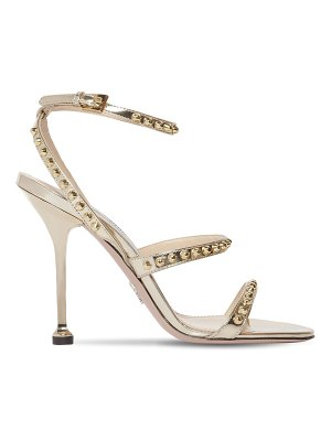 Prada 105mm studded metallic leather sandals