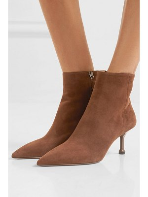 Prada 65 suede ankle boots
