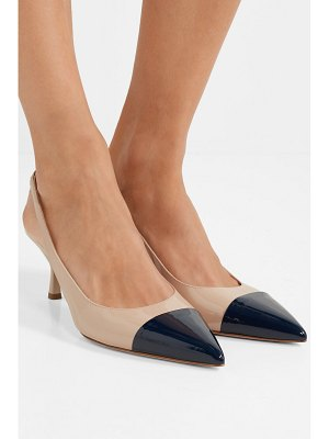 Prada 65 two-tone patent-leather slingback pumps