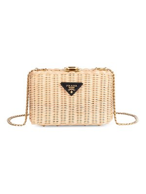 Prada basket clutch