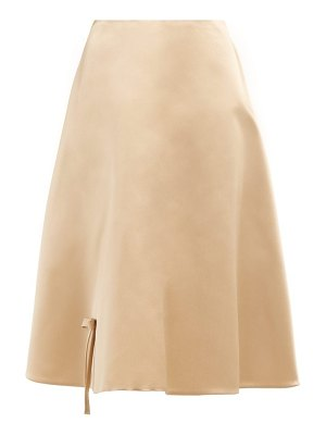 Prada bow appliqué silk satin skirt