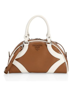 Prada leather bowling bag