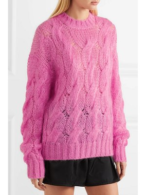 Prada cable-knit mohair-blend sweater