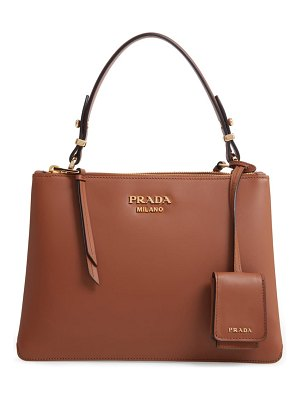 Prada calfskin leather shoulder bag