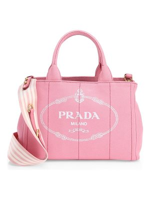 Prada small canvas shopper