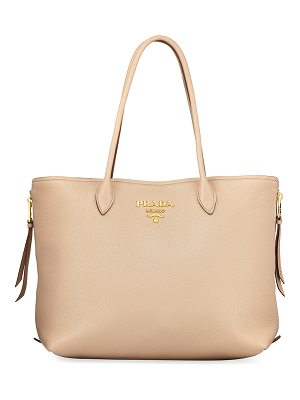 Prada Daino Top-Handle Shopper Tote Bag