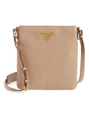 Prada daino leather flat crossbody bag