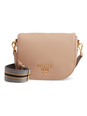 Prada daino messenger leather crossbody bag