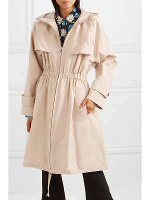 Prada hooded cotton-blend poplin trench coat