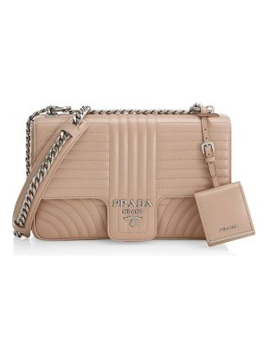 Prada large diagramme leather shoulder bag