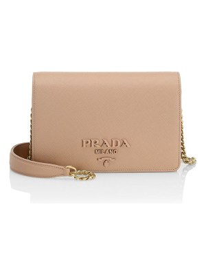 Prada monochrome leather crossbody bag
