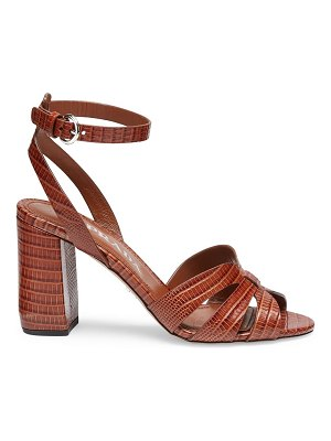 Prada lizard-embossed leather sandals