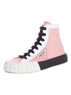Prada logo high top sneaker