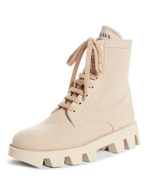 Prada lugged combat boot