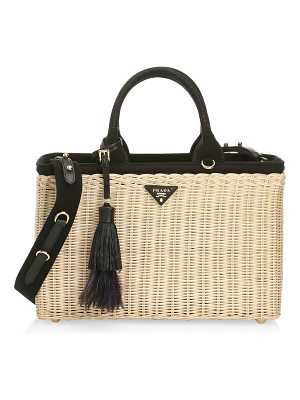 Prada midollino bamboo shoulder bag
