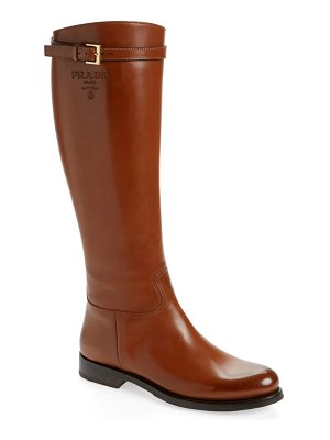 Prada knee high riding boot