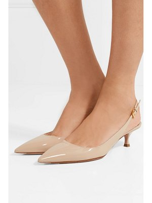 Prada patent-leather slingback pumps