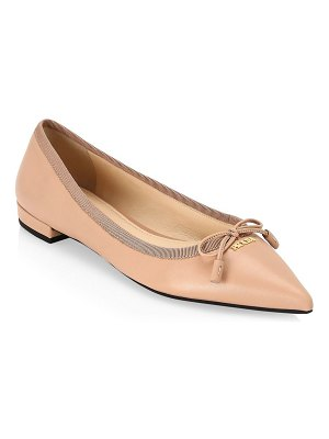 Prada point toe leather ballerina flats