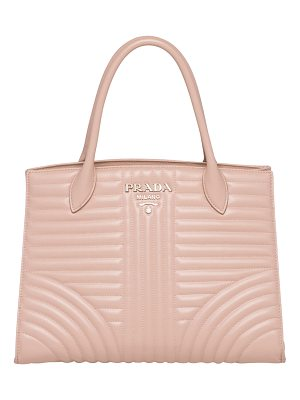 PRADA Quilted Paradigm Tote Bag