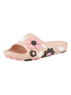PRADA Rubber Flower Slide Sandal