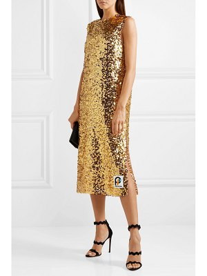 Prada sequined organza midi dress