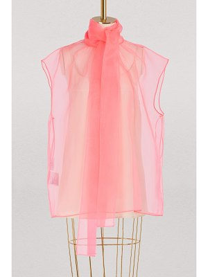 Prada Sleeveless organza top
