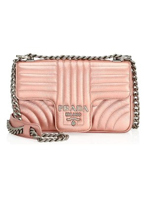 Prada small diagramme leather shoulder bag